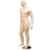 MN-169 Egghead Standing Masculine Male Mannequin with Base - DisplayImporter