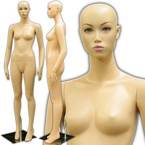 MN-173 Asian Female Fashion Realistic Mannequin with Make-Up and Free Wig - DisplayImporter
