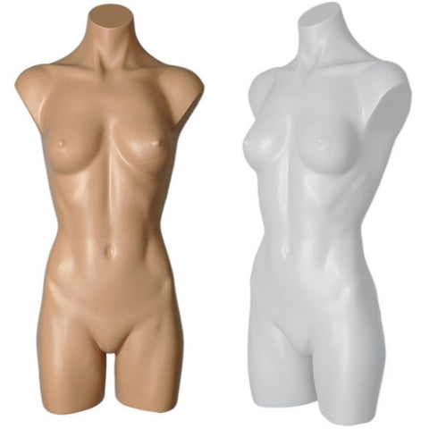 MN-179BODY Female Plastic Armless Round Body Torso Mannequin