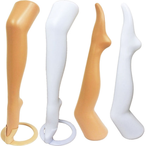 "MN-189 Plastic Women's Thigh-High Hosiery Leg 28"" w/ Optional Toe Cap Stand"