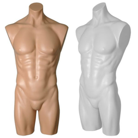 MN-193BODY Male Plastic Armless Round Body Torso Mannequin