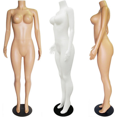 MN-238 Plastic Busty Headless Female Full Body Mannequin - DisplayImporter