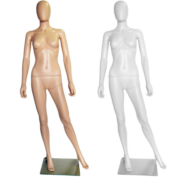 MN-241 Ladies Full Size Egghead Mannequin with Removable Head - DisplayImporter