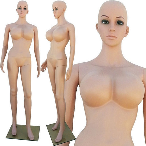 MN-250 Plastic Busty Ladies Full Size Mannequin - DisplayImporter