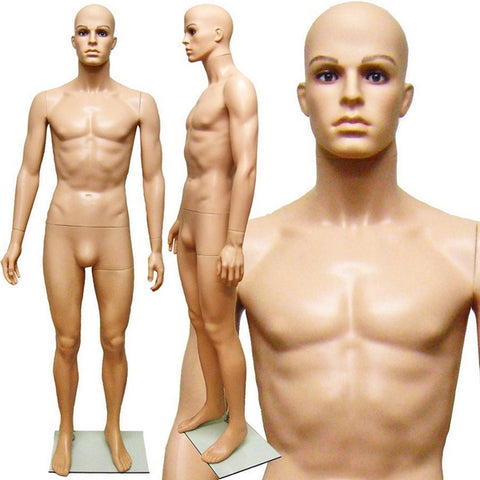 MN-251A Plastic Realistic Head Male Full Body Mannequin with Removable Head - DisplayImporter