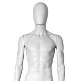 MN-251 Plastic Egghead Male Full Body Mannequin with Removable Head - DisplayImporter