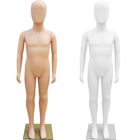 MN-252 Plastic Unisex Child Full Size Mannequin 4' 3.25""
