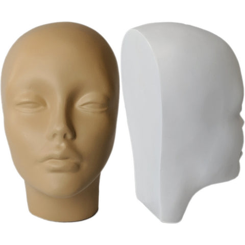 MN-257 Half Head Face Female Fiberglass Mannequin Head Display - DisplayImporter