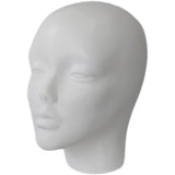 MN-257 Half Head Female Fiberglass Mannequin Head Display Form - DisplayImporter