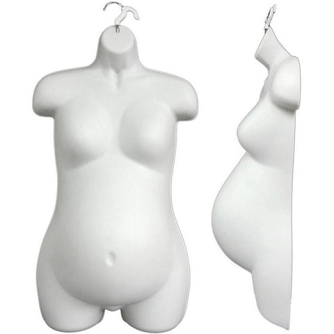 MN-263 Female Pregnant Maternity Upper Torso Body Injection Mold Hanging Form - DisplayImporter
