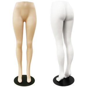 MN-276 Brazilian Plastic Lower Torso Pants Mannequin Form with Metal Base - DisplayImporter