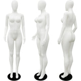 MN-277 Plastic Busty Egghead Ladies Full Size Mannequin - DisplayImporter