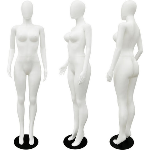 MN-277 Plastic Busty Egghead Female Full Body Mannequin - DisplayImporter