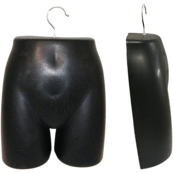 MN-280 Plastic Female Lower Torso (Hip) Hanging Form with Metal Hook - DisplayImporter