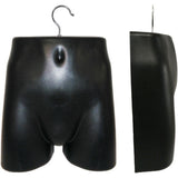 MN-281 Plastic Male Lower Torso (Hip) Hanging Form with Metal Hook - DisplayImporter