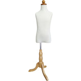 MN-285 Children's French Dress Form with Adjustable Wood Tripod Base (Size 7-9 M/L) - DisplayImporter