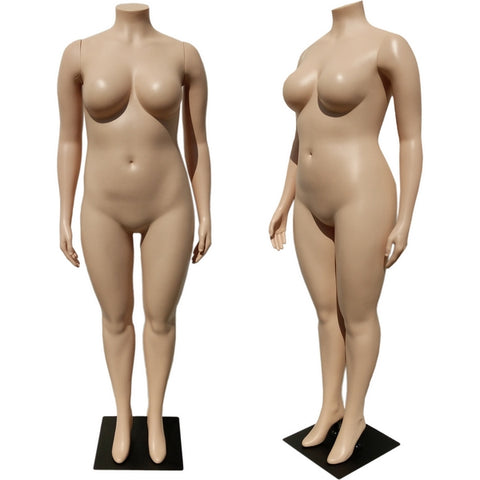 MN-288 Plus Size Female Headless Plastic Mannequin (16W-18W) - DisplayImporter