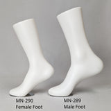 "MN-290 Female Calf High Magnetic Upright Foot Sock Display with Metal Plate 12"" - DisplayImporter"
