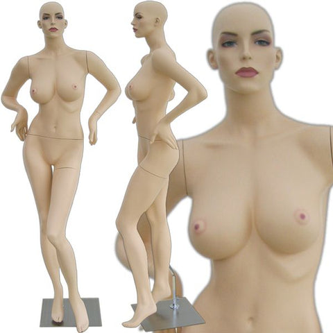 MN-306 Sexy Curvy Female Voluptuous Realistic Mannequin (Rita) with Free Wig
