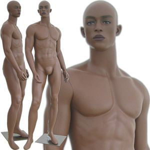 MN-307 African American Male Fashion Realistic Head Mannequin with Free Wig - DisplayImporter