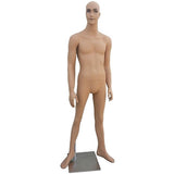 "MN-308A Young Male Smiling Short Realistic Mannequin 5' 9.5"" with Free Wig - DisplayImporter"