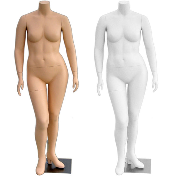 MN-310 Female Headless Plus Size Mannequin - DisplayImporter