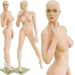 MN-313 Sexy and Curvy Voluptuous Female Mannequin (Angelina) with Free Wig - DisplayImporter