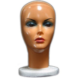 MN-316 Female Styrofoam Mannequin Head with Removable Mask - DisplayImporter