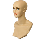 MN-320 Female Mannequin Head Form with Stylish Neck And Shoulder - DisplayImporter