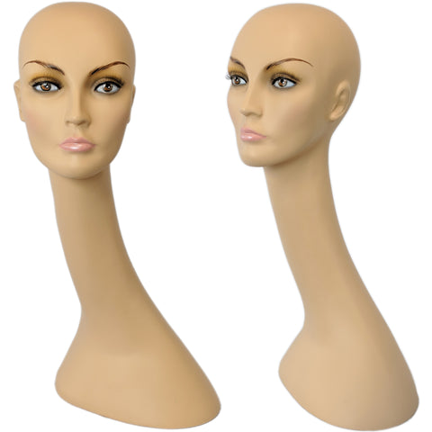 MN-321 Long Neck Female Mannequin Head Display Form - DisplayImporter