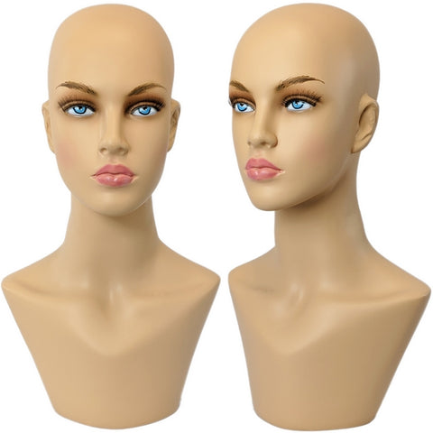 MN-322 Female Mannequin Head Form with Bust - DisplayImporter