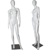 MN-327 Glossy Abstract Egghead Female Mannequin - DisplayImporter