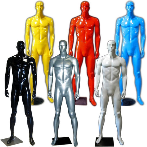 MN-333 Colorful Glossy Abstract Male Mannequin