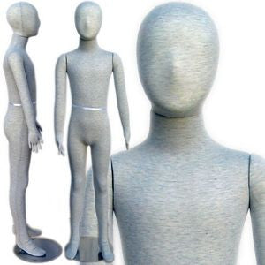 "MN-334 Pinnable & Flexible Kid Mannequin with Head 4' 7"" (7C-8C) - DisplayImporter"