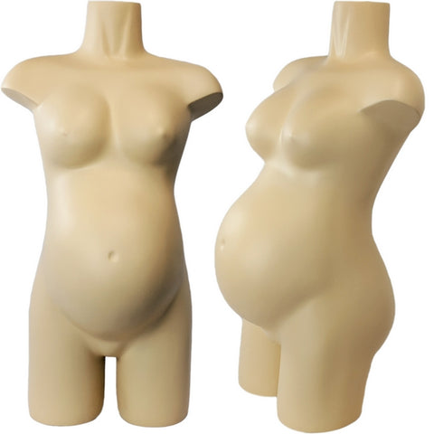 MN-373 Freestanding Pregnant Maternity 3/4 Upper Torso Mannequin Form - DisplayImporter