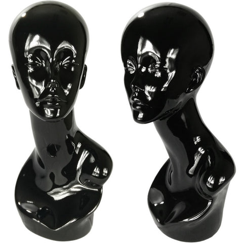 MN-376 Glossy Abstract Female Egghead Mannequin Head Display