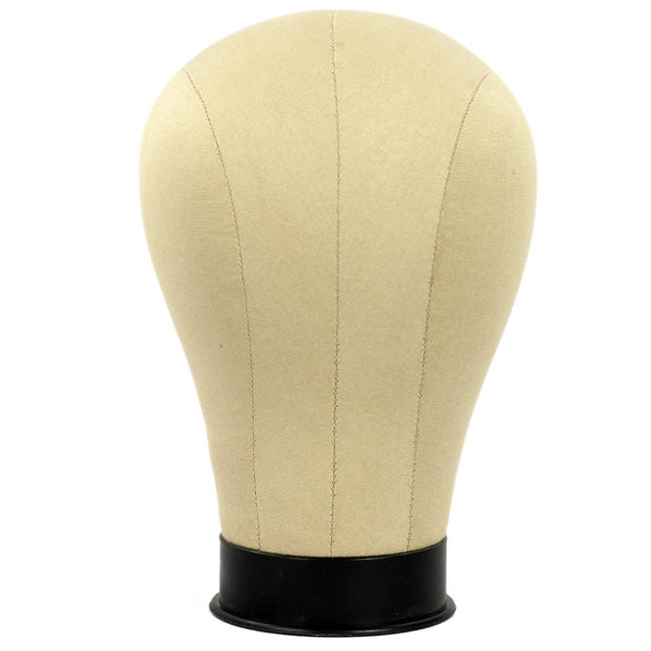MN-397 Millinery Canvas Cork Mannequin Wig/Hat Block Head with Mounting Hole - DisplayImporter