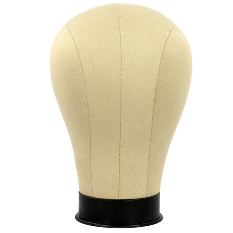 MN-397 Millinery Canvas Cork Mannequin Wig/Hat Block Head with Mounting Hole
