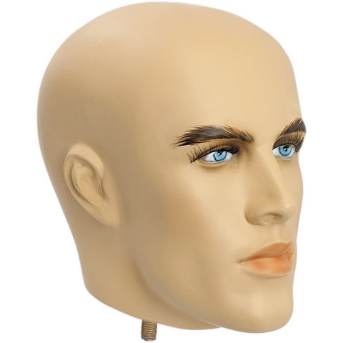 MN-406HEAD Fiberglass Male Realistic Mannequin Head Attachment - DisplayImporter