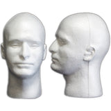 MN-409 Male Styrofoam Mannequin Head