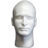 MN-409LTP Male Styrofoam Mannequin Head (LESS THAN PERFECT, FINAL SALE)