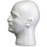 MN-409LTP Male Styrofoam Mannequin Head (LESS THAN PERFECT, FINAL SALE) - DisplayImporter
