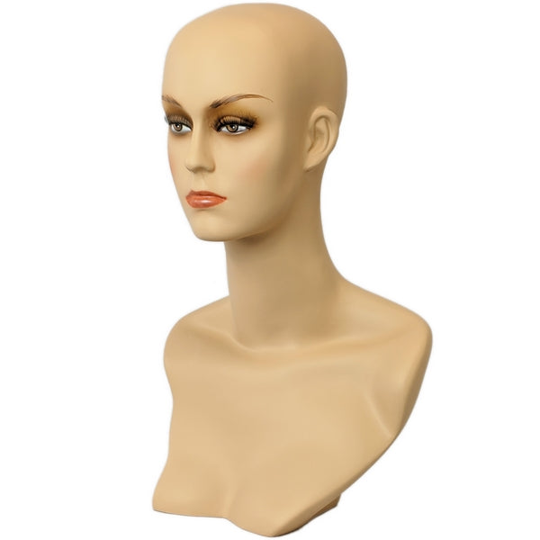 Mn 411 Female Mannequin Head Form With Stylish Neck And