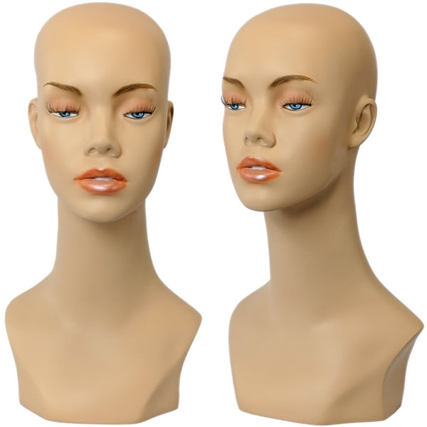 MN-412 Female Mannequin Head Form with Bust - DisplayImporter