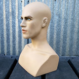 MN-413 Male Mannequin Head Form with Bust - DisplayImporter