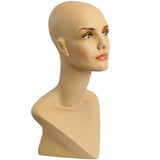 MN-414 Female Mannequin Head Form with V Neck - DisplayImporter