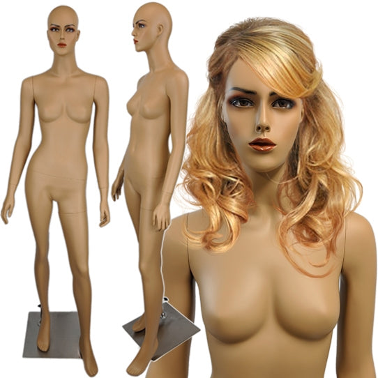 MN-429A Tanned Female Realistic Mannequin with Free Wig - DisplayImporter