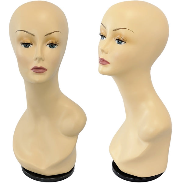 MN-436B Female Mannequin Head Form with Removable Turn Table Base
