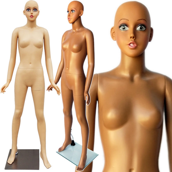 "MN-437 Plastic Teenage Girl Full Size Mannequin 5' 5"" - DisplayImporter"