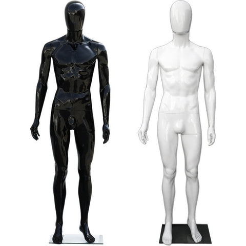 MN-439 Glossy Plastic Egghead Male Full Size Mannequin with Removable Head - DisplayImporter